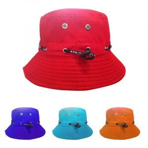 100% cotton bucket hat with string
